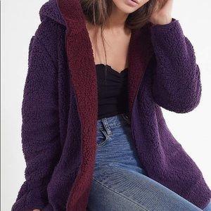 UO urban teddy coat with hood